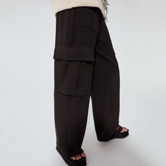 Reserved - RE.DESIGN Spodnie bojówki - Czarny