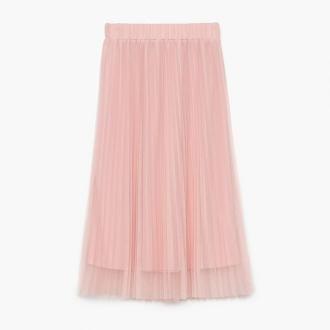 Cropp - Plisowana spódnica - Różowy