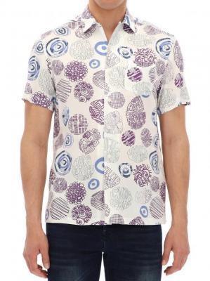 Wzorzysta koszula na krótki rękaw Desigual LEOPOLDO