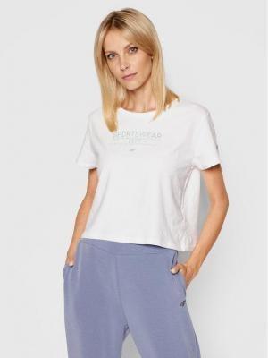 4F T-Shirt H4L21-TSD013 Biały Regular Fit