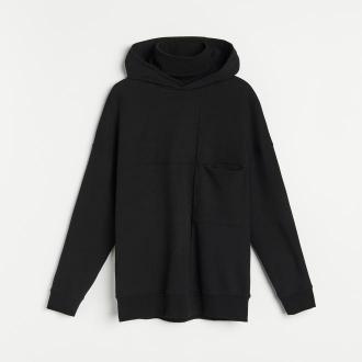 Reserved - Dresowa bluza z kapturem - Czarny