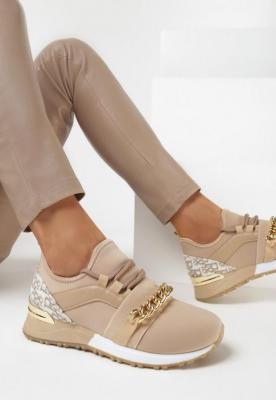 Ciemnobeżowe Sneakersy Collia