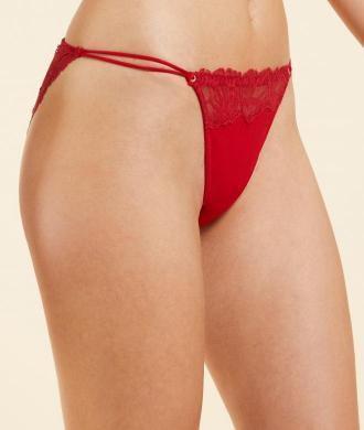 Upside Majtki Bikini Z Koronki - Czerwony - Etam