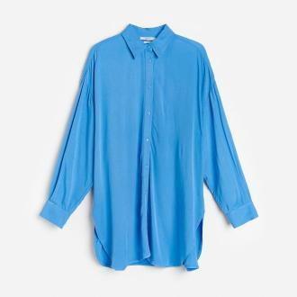 Reserved - Koszula oversize z EcoVero™ - Niebieski