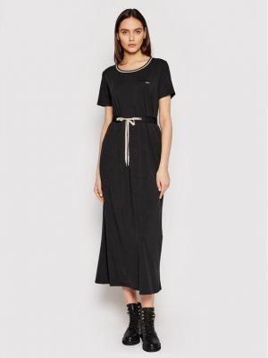 Liu Jo Sport Sukienka codzienna TA1034 J6072 Czarny Regular Fit