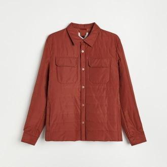 Reserved - Pikowana kurtka z kieszeniami - Pomarańczowy