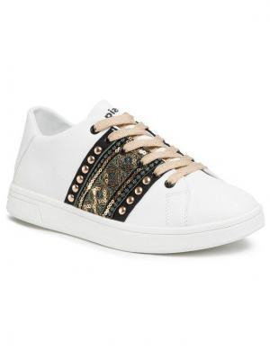 Desigual Sneakersy Cosmic Exotic Gold 20SSKP28 Biały