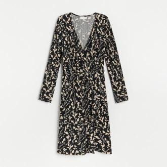 Reserved - Kopertowa sukienka w kwiaty - Wielobarwny