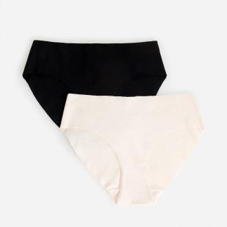 Reserved - Majtki bikini z bawełny organicznej 2-pack - Czarny