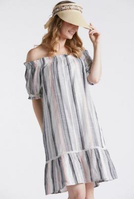 Sukienka z dekoltem hiszpanka