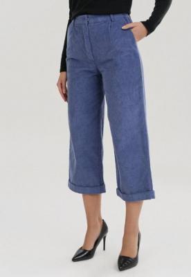 Granatowe Spodnie Culottes Rhelvielle
