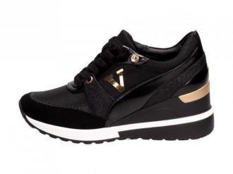 Czarne sneakersy półbuty damskie VINCEZA 10574