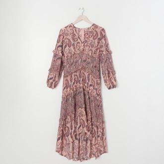 Sinsay - Sukienka z falbankami - Wielobarwny