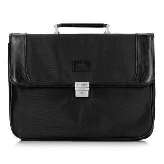 Męska torba na laptopa ze wstawkami z ekoskóry