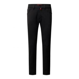 Spodnie o kroju regular fit z dużym dodatkiem streczu model 'Deauville' — 'Performance Plus'