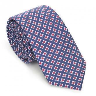 Krawat z jedwabiu wzorzysty