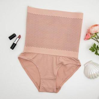 Różowe modelujące figi elastyczne - Bielizna