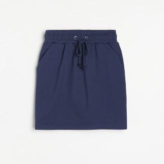 Reserved - Dresowa spódnica - Granatowy