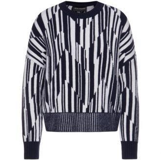 Sportmax Code Sweter Uscio 73660195 Granatowy Oversize