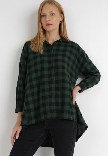 Czarno-Zielona Koszula Verephise