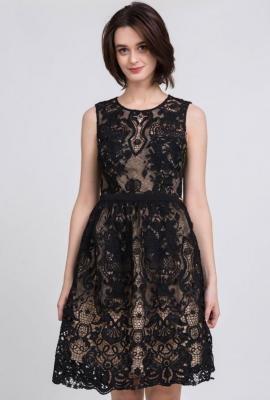 Koronkowa sukienka koktajlowa