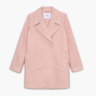 Cropp - Dwurzędowy płaszcz - Różowy