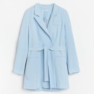 Reserved - Sukienka o kroju marynarki - Niebieski