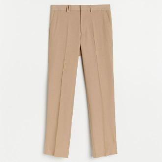 Reserved - Eleganckie spodnie slim fit - Beżowy
