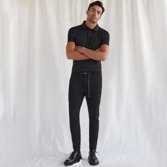 Reserved - Spodnie chino slim z paskiem - Czarny