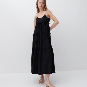 Reserved - Bawełniana sukienka maxi - Czarny