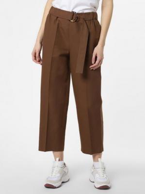 SET - Spodnie damskie z dodatkiem lnu, brązowy