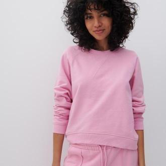 Reserved - Bluza z bawełny organicznej - Różowy