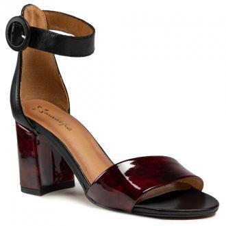 Sandały MACIEJKA - 04235-23/00-5 Czarny Bordowy