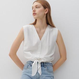 Reserved - Gładka koszula - Kremowy