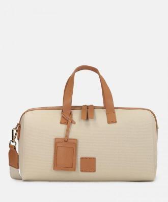 Beżowo brązowa torba podróżna damska kazar x kasia