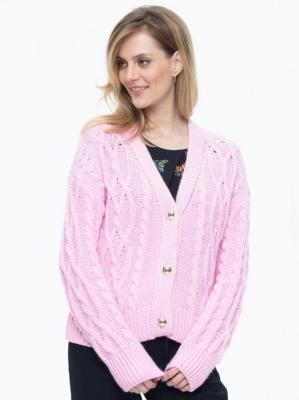 Rozpinany sweter z warkoczowym splotem L'AF Madena