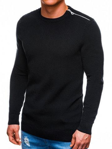 Sweter męski 166E - czarny - S