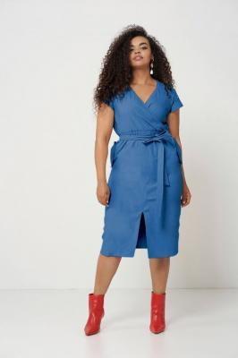 SAVANNAH BLUE ołówkowa sukienka plus size na lato : size - 60/62