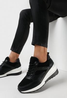 Czarne Sneakersy Parthialla