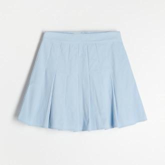 Reserved - Trapezowa spódnica mini - Niebieski