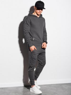 Komplet męski bluza + spodnie Z24 - grafitowy - XXL