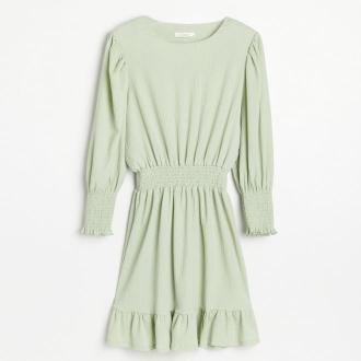 Reserved - Żakardowa sukienka mini - Zielony