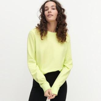 Reserved - Bluza z bawełny organicznej - Zielony