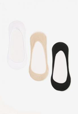3-Pack Biało-Beżowych Skarpet Ashixia
