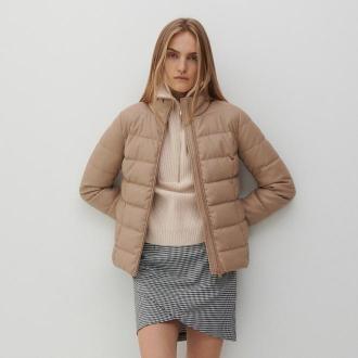 Reserved - Krótka pikowana kurtka - Beżowy