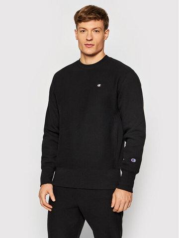 Bluza Reverse Weave C Logo 216495 Czarny Regular Fit