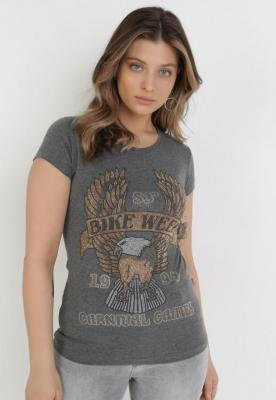 Szary T-shirt Idaphenis
