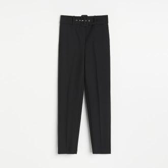 Reserved - Spodnie z wysokim stanem - Czarny