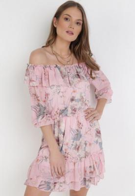 Różowa Sukienka Peshanea