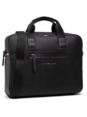Tommy Hilfiger Torba na laptopa Essential Pu Computer Bag AM0AM07240 Czarny